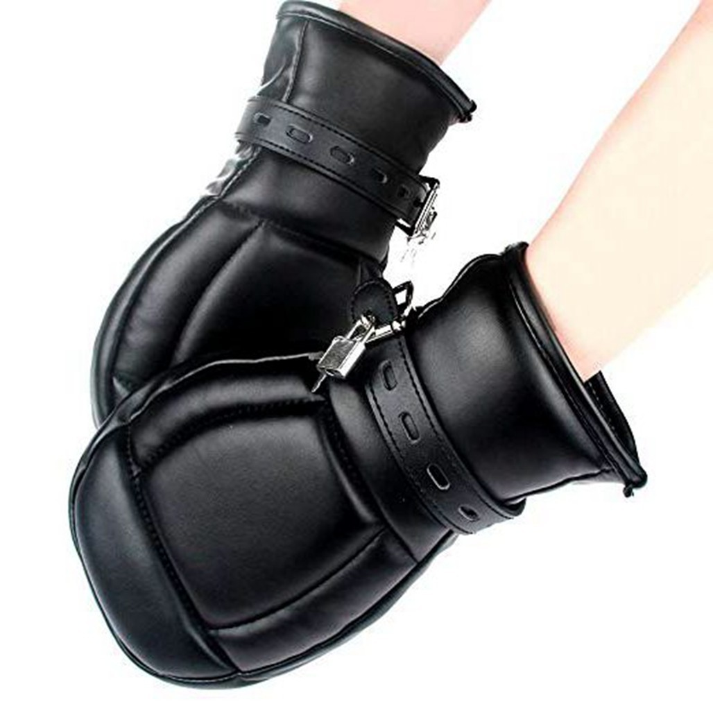 Leather Bondage Mittens Restricted Senses