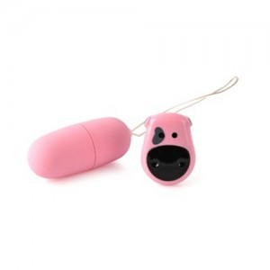 Adorable Cow Style Waterproof Egg Vibrating Massager 20-Mode Pink+Black