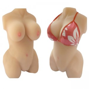 3D Half Body Sex Breast Silicone Doll, Sexy Body with Vagina and Anal Masturbator, Sex Doll for Men, Sex Products