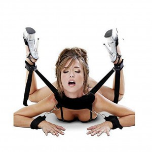 Foreplay Restraints Kit Hand & Ankle Cuff Bed Restraints Wrist Thigh Leg Restraint System