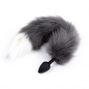 Faux Fox Tail Anal Plug Silicone Anal Butt Plug For Women