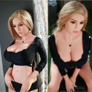 165cm 5..41ft Lifelike Silicone Sex Dolls Sela With Metallic Framework Real Life TPE Female Love Doll For Men