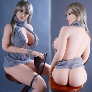 168cm 5.51ft Life Like Silicone Sex Doll Realistic Big Breasts White Skin Adult Love Doll With 3 Holes