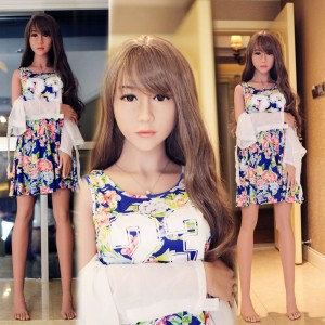 148cm 4.85ft Realistic Sex Doll With 3 Realistic Vagina Pussy Blow Up Japanese Girl Silicone Love Doll Alyssa