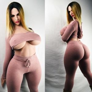 Alexia : 163 cm Lifelike Super Big Breast Silicone Sex Blonde WM Dolls