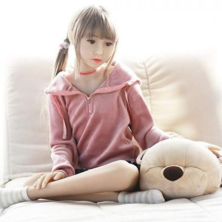 125cm 4.1ft  Flat Chest Silicone Sex Dolls Adult Lifelike TPE Love Doll