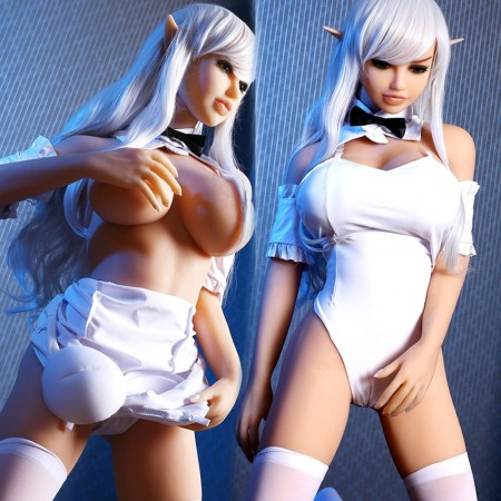 140 cm 4.59ft Silicone Sex Doll with Metal Skeleton Real 3 Entries Oral Vaginal Anal Real Male Love Doll