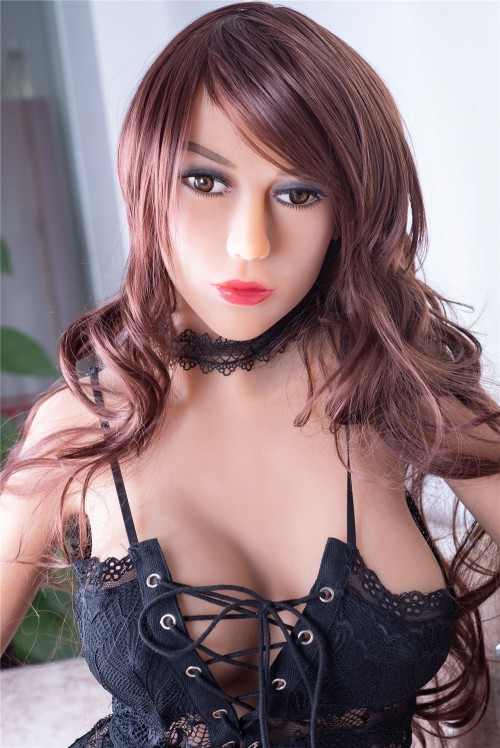 Riva : curly hair C cup big butt real life sex dolls 170cm 5.57ft