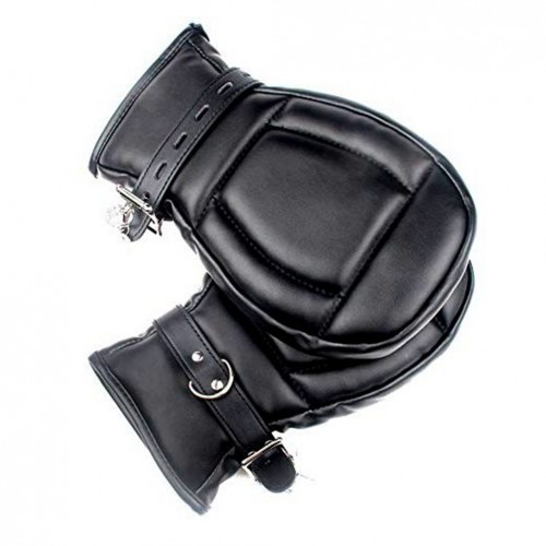 1 pairs Lockable and adjustable Padded Bondage Mitts