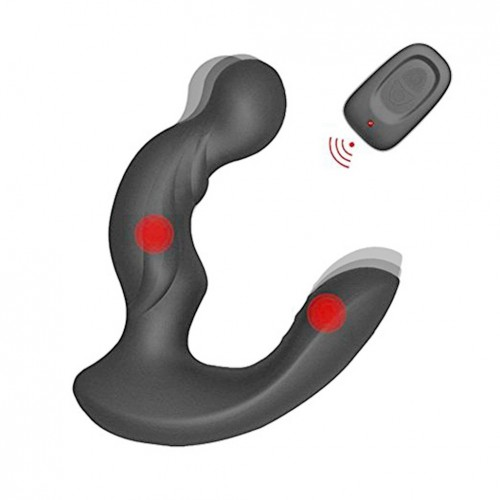 Dual Motors Anal Plug Vibrating Prostate Massager Stimulation for Male