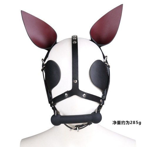 Genuine Leather Sexy Rabbit Bondage Mask Cute Cosplay Costume For Couples