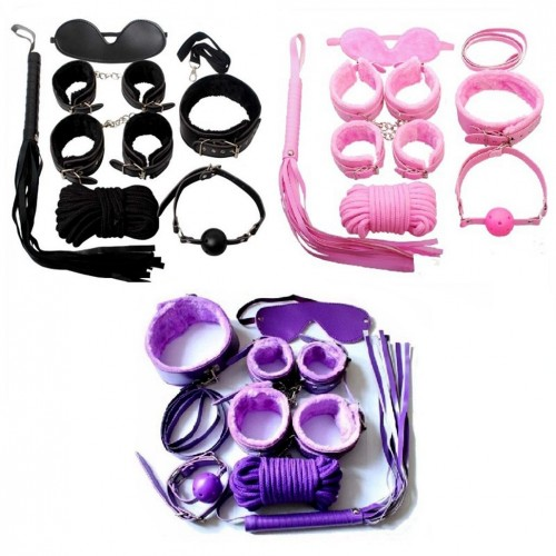 7 pcs/Set Sex Bondage foreplay toys for Couples