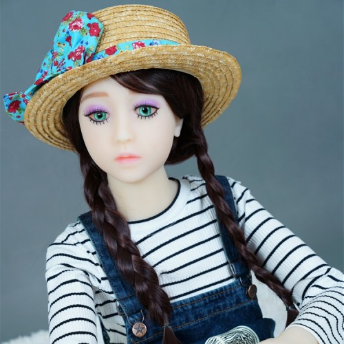 125cm 4.1ft  Flat Chest Japanese Silicone Sex Dolls Adult Lifelike TPE Love Doll