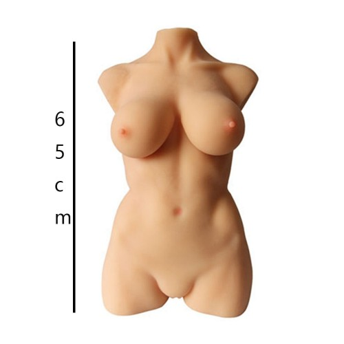 Full Size Real Silicone Torso Sex Doll With Breast Vagina Anus