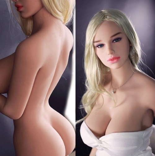 165cm 5.41ft Natural Skin Full Size Lifelike Solid Sex Doll with Metal Skeleton 3 Holes Love Doll Anna