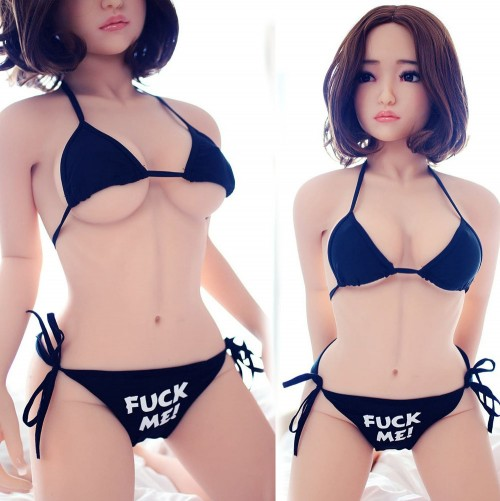140 cm 4.59ft Small Chest Silicone Love Doll with Metal Skeleton 3 Entries Oral Vaginal Anal Real Male Sex Doll