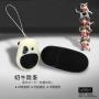 Cute Cow Pattern Waterproof Vibrating Bullet Egg 20-Mode White+Black
